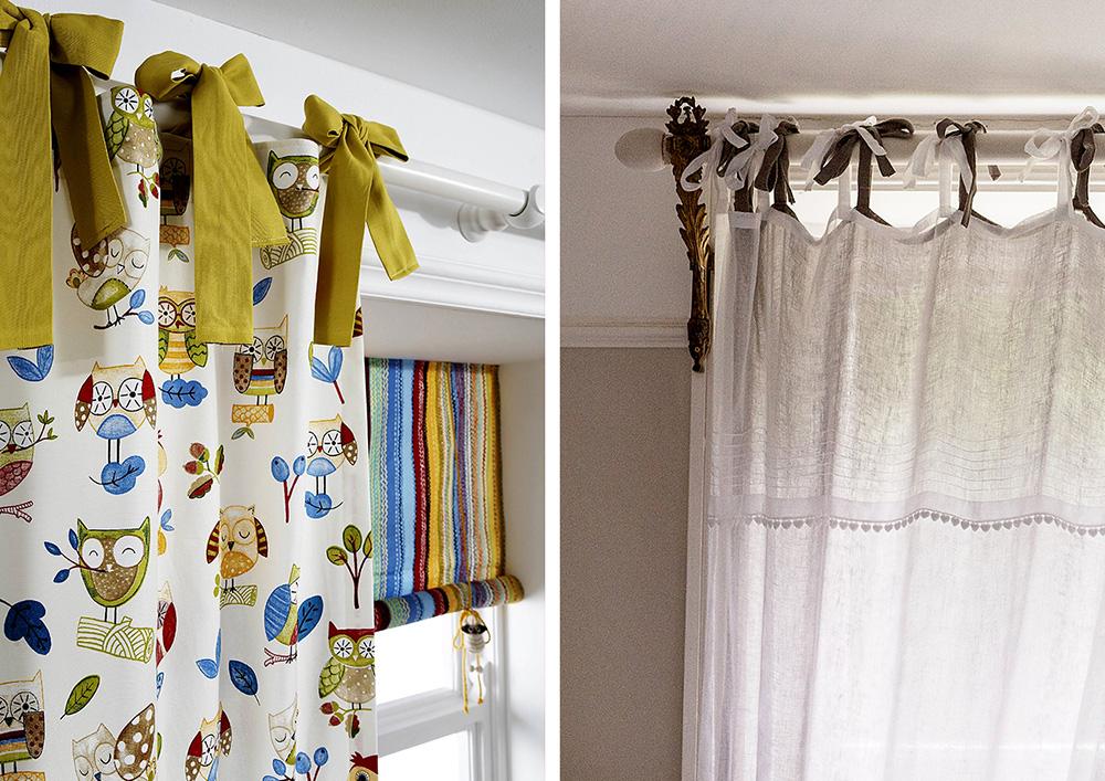 фото шторы на завязках