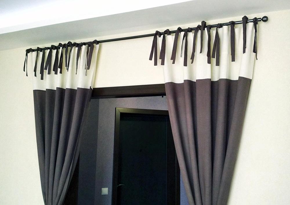 шторы с завязками фото дождливых